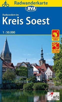 Radwanderkarte BVA Radwandern im Kreis Soest 1:50.000, reiß- und wetterfest, GPS-Tracks Download
