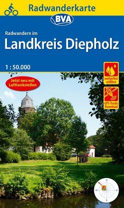 Radwanderkarte BVA Radwandern im Landkreis Diepholz mit Begleitheft 1:50.000, reiß- und wetterfest, GPS-Tracks Download