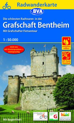 Radwanderkarte BVA Radwandern in der Grafschaft Bentheim 1:50.000, reiß- und wetterfest, GPS-Tracks Download