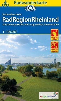 Radwanderkarte BVA Radwandern in der RadRegionRheinland 1:100.000, reiß- und wetterfest, GPS-Tracks Download