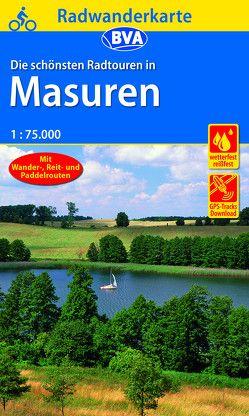Radwanderkarte BVA Radwandern in Masuren 1:75.000