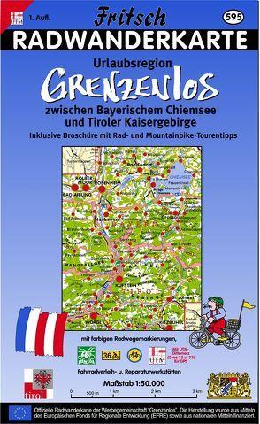 Radwanderkarte Urlaubsregion Grenzenlos zwischen Bayerischem Chiemsee und Tiroler Kaisergebirge von Fritsch Landkartenverlag