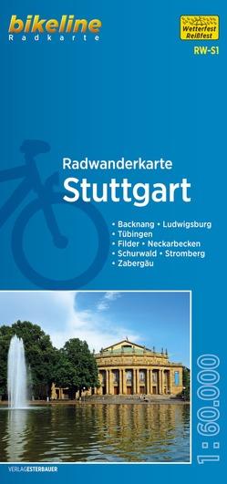 Radwanderkarte Stuttgart RW-S1 von Esterbauer Verlag