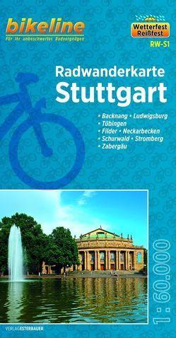 Radwanderkarte Stuttgart RW S1 von Esterbauer Verlag