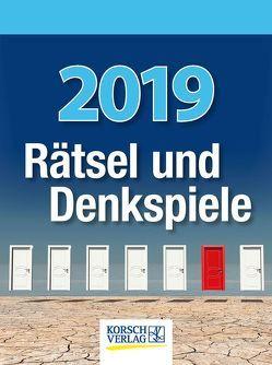 Rätsel und Denkspiele 2019 von Korsch Verlag