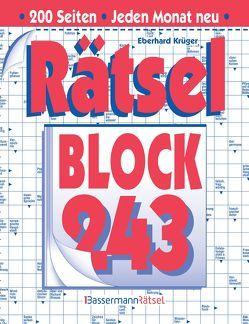 Rätselblock 243 (5 Exemplare à 2,99 €) von Krüger,  Eberhard