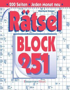Rätselblock 251 (5 Exemplare à 2,99 €) von Krüger,  Eberhard