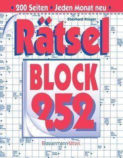 Rätselblock 252 (5 Exemplare à 2,99 €) von Krüger,  Eberhard