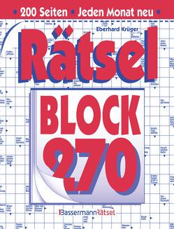 Rätselblock 270 (5 Exemplare à 2,99 €) von Krüger,  Eberhard