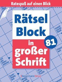 Rätselblock in großer Schrift 81 von Krüger,  Eberhard