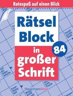 Rätselblock in großer Schrift 84 von Krüger,  Eberhard