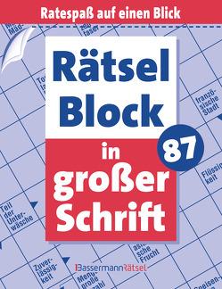 Rätselblock in großer Schrift 87 von Krüger,  Eberhard