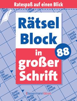 Rätselblock in großer Schrift 88 von Krüger,  Eberhard