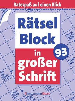 Rätselblock in großer Schrift 93 von Krüger,  Eberhard