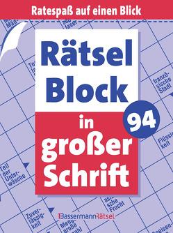 Rätselblock in großer Schrift 94 (5 Exemplare à 2,99 €) von Krüger,  Eberhard