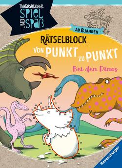 Rätselblock von Punkt zu Punkt: Bei den Dinos von Richter,  Martine, Rist,  Cornelia, Rothmund,  Sabine