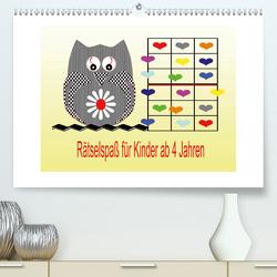 Rätselspaß für Kinder ab 4 Jahren/AT-Version (Premium, hochwertiger DIN A2 Wandkalender 2020, Kunstdruck in Hochglanz) von Youlia