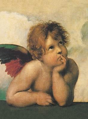 Raffael Santi – Sixtinische Madonna ( detail)