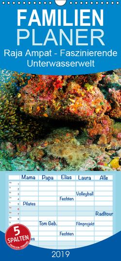 Raja Ampat – Faszinierende Unterwasserwelt – Familienplaner hoch (Wandkalender 2019 , 21 cm x 45 cm, hoch) von H. Kraus,  Martin