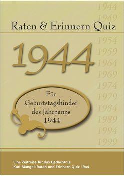 Raten und Erinnern Quiz 1944 von Mangei,  Karl