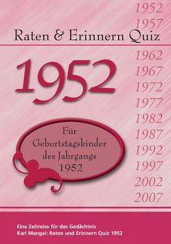 Raten und Erinnern Quiz 1952 von Karl,  Mangei