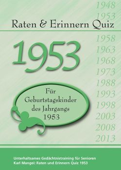 Raten und Erinnern Quiz 1953 von Mangei,  Karl