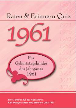 Raten und Erinnern Quiz 1961 von Mangei,  Karl