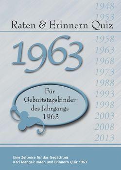 Raten und Erinnern Quiz 1963 von Mangei,  Karl