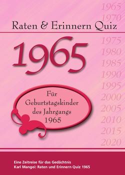 Raten und Erinnern Quiz 1965 von Mangei,  Karl