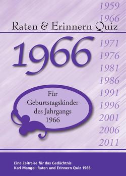 Raten und Erinnern Quiz 1966 von Mangei,  Karl