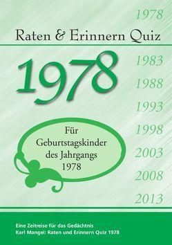 Raten und Erinnern Quiz 1978 von Mangei,  Karl