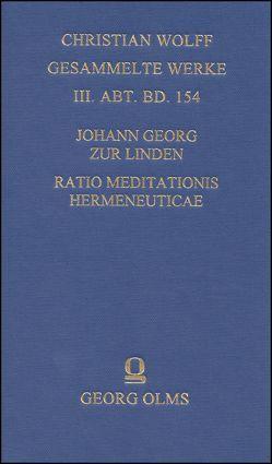 Ratio meditationis hermeneuticae imprimis sacrae methodo systematica proposita von Cataldi Madonna,  Luigi, Zur Linden,  Johann Georg