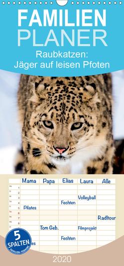 Raubkatzen: Jäger auf leisen Pfoten – Familienplaner hoch (Wandkalender 2020 , 21 cm x 45 cm, hoch) von CALVENDO