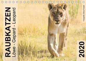 Raubkatzen – Löwe, Gepard, Leopard (Tischkalender 2020 DIN A5 quer) von Trüssel,  Silvia