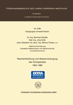 Raumentwicklung und Wasserversorgung des Ruhrgebietes 1954 – 1980 von Budde,  Bernhard