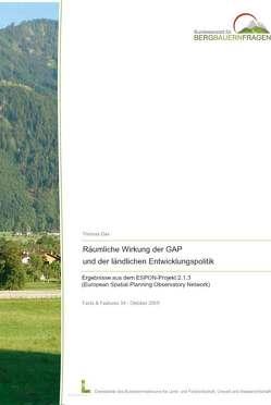 Räumliche Wirkung der GAP und der ländlichen Entwicklungspolitik von Dax,  Thomas