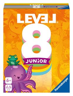 Ravensburger 20860 – Level 8 Junior, Die Junior Variante des Kartenspiels für 2-5 Spieler ab 6 Jahren von Armbruster,  Susanne, Bakker,  Remco