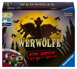 Ravensburger 26858 – Werwölfe – Epic Battle, Best-of der Spielereihe für 3-10 Spieler, Gesellschaftsspiel ab 10 , Partyspiel von Alspach,  Ted, Okui,  Akihisa