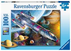 Ravensburger Kinderpuzzle 12939 – Mission im Weltall 100 Teile XXL – Puzzle für Kinder ab 6 Jahren