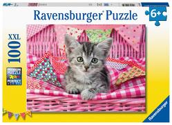 Ravensburger Kinderpuzzle 12985 – Niedliches Kätzchen 100 Teile XXL – Puzzle für Kinder ab 6 Jahren