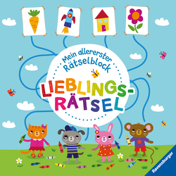 Ravensburger Mein allererster Rätselblock – Lieblingsrätsel – Rätselblock für Kinder ab 3 Jahren von Enright,  Amanda, Regan,  Lisa, Zollickhofer,  Jessika