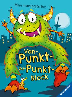 Ravensburger Mein monsterstarker Von-Punkt-zu-Punkt-Block – Für Kinder ab 5 Jahren von Lohr,  Stefan, Pahl,  Simone