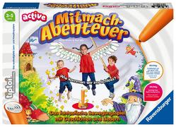 Ravensburger tiptoi ACTIVE Spiel 00076, Mitmach-Abenteuer, Bewegungsspiel ab 3 Jahren, mit Geschichten, schönen Liedern und lustigen Reimen