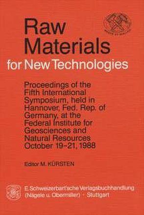Raw Materials for New Technologies von Kürsten,  M