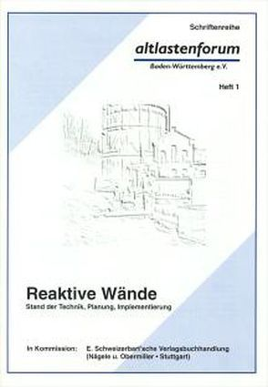 Reaktive Wände von Melzer,  Reiner, Schüth,  Christoph, Teutsch,  Georg