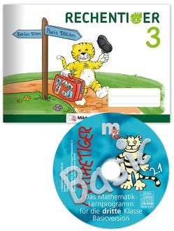 RECHENTIGER 3 mit CD-ROM von Laubis,  Thomas, Sagner,  Ida