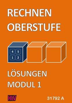 Rechnen Oberstufe – Modul 1 – Lösungen von Gugelmann,  Armin, Nyffeler,  Kurt
