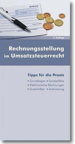 Rechnungsstellung im Umsatzsteuerrecht von Dipplinger,  Gerald, Gerner,  David
