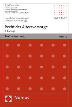 Recht der Altersvorsorge von Rüffert,  Thorsten, Schwintowski,  Hans-Peter