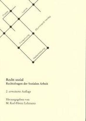 Recht sozial von Lehmann,  M Karl
